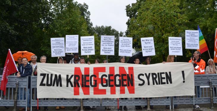 Nein Zur Bundeswehr In Syrien Nein Zum Krieg Nicht In