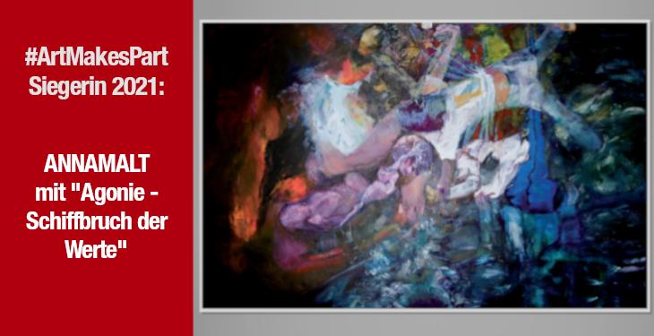 ANNAMALT gewinnt den Kunstpreis #ArtMakesPart 2021