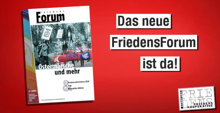 FriedensForum: Das Magazin für einen friedlichen Lifestyle.