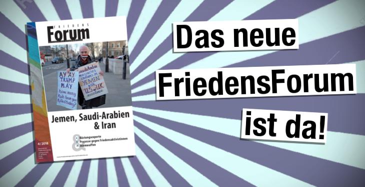 Frisch erschienen: Das FriedensForum 2018.