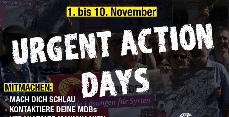 Urgent Action Days 2016 MACHT FRIEDEN