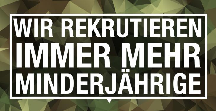Die Bundeswehr rekrutiert Minderjährige
