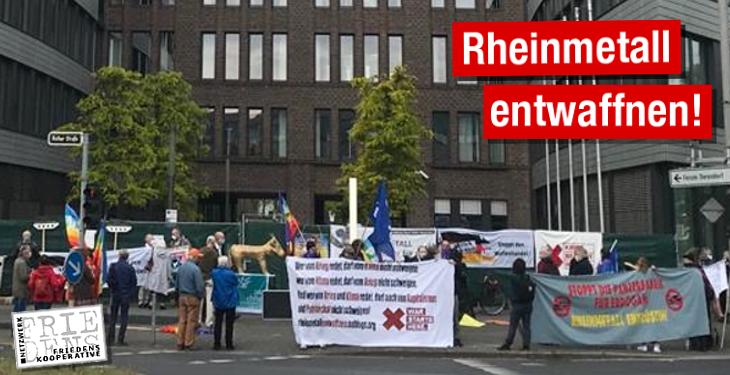Protest anlässlich der Rheinmetall-Hauptversammlung 2020
