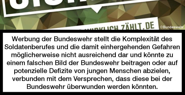 Kinderkommission stellt Bundeswehrwerbung schlechtes Zeugnis aus