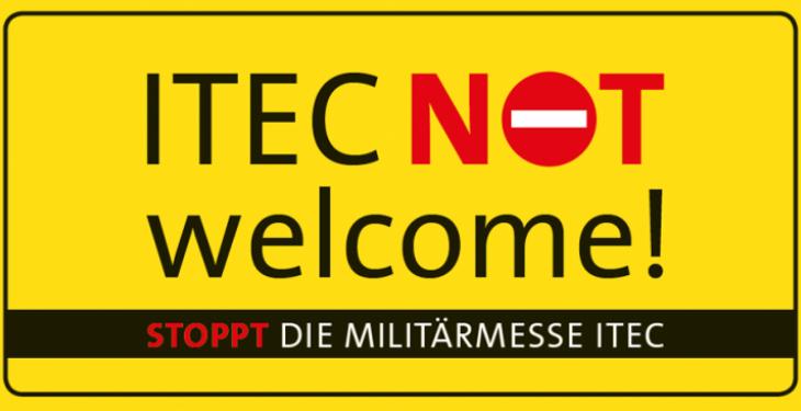 ITEC: Protest gegen Militärmesse in Stuttgart