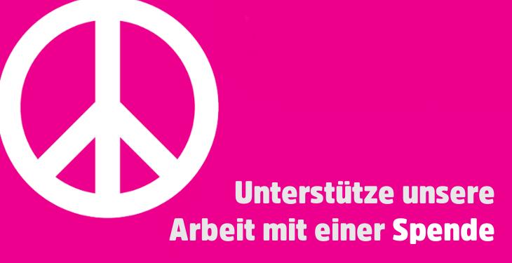 Unterstütze die Ostermarsch-Arbeit des Netzwerk Friedenskooperative mit einer Spende.