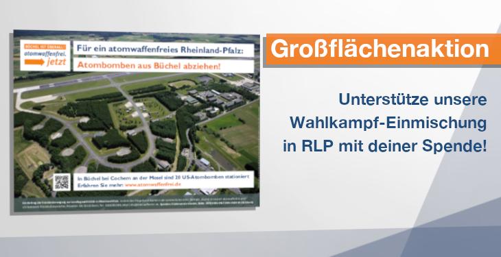 Großflächenplakat-Kampagne für ein atomwaffenfreies Rheinland-Pfalz