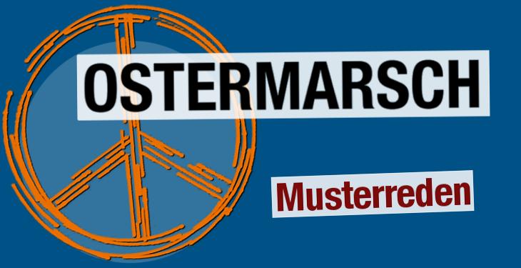 Musterreden zum Ostermarsch 2019