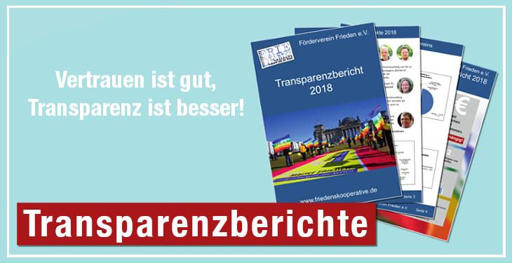 Die Transparenzberichte des Förderverein Frieden e.V.