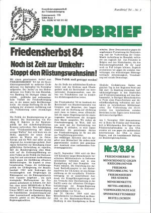 Cover Rundbrief 03/84