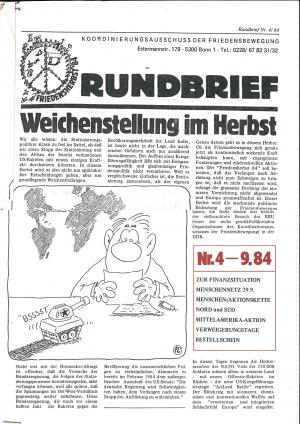Cover Rundbrief 04/84