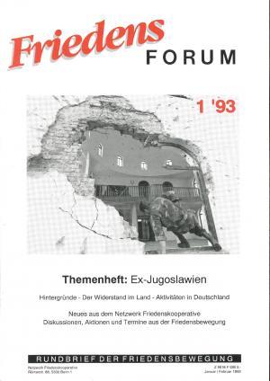 Cover FriedensForum 1/1993