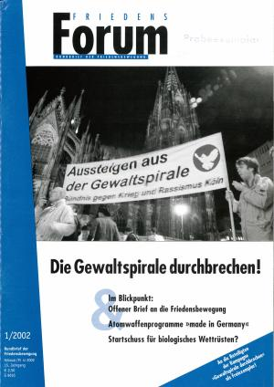 Cover FriedensForum 1/2002