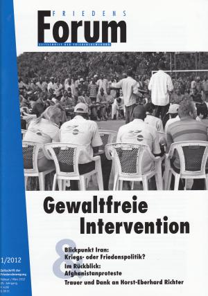 Cover FriedensForum 1/2012