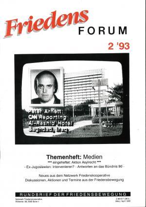 Cover FriedensForum 2/1993