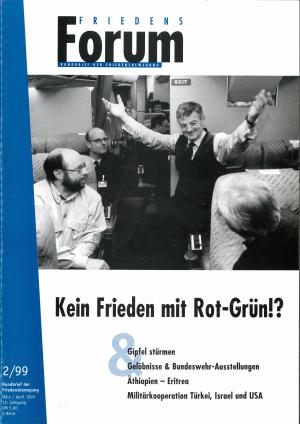 Cover FriedensForum 2/1999
