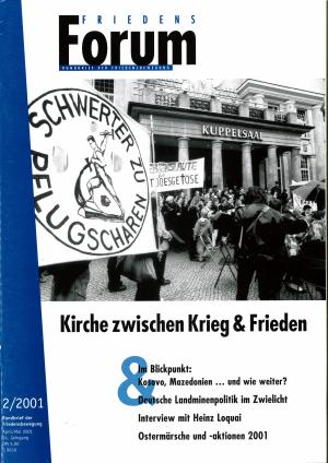 Cover FriedensForum 2/2001