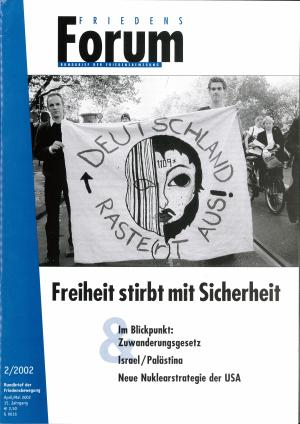 Cover FriedensForum 2/2002
