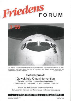 Cover FriedensForum 3/1993