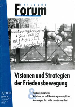 Cover FriedensForum 3/2000