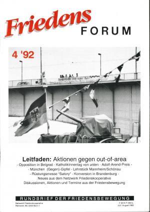 Cover FriedensForum 4/1992