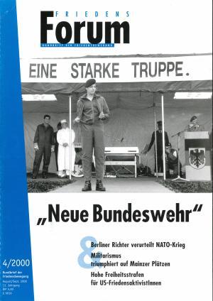 Cover FriedensForum 4/2000