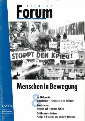 Cover FriedensForum 4/2001
