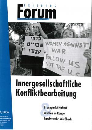 Titelblatt FriedensForum 4 2006
