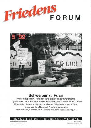 Cover FriedensForum 5/1992