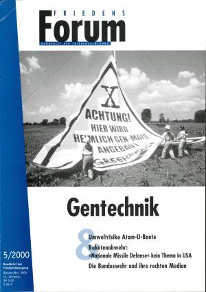 Cover FriedensForum 5/2000
