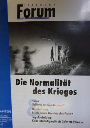 Cover FriedensForum 5-6/2006