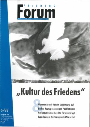 Cover FriedensForum 6/1999
