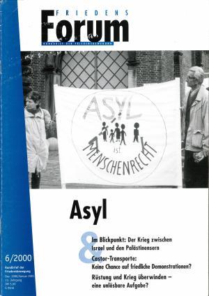 Cover FriedensForum 6/2000