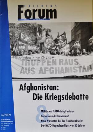 Cover FriedensForum 6/2009