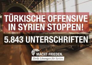 Unterschriftenaktion der Kampagne MACHT FRIEDEN. Zivile Lösungen für Syrien