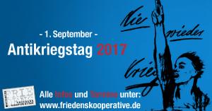 Am 1. September ist Antikriegstag