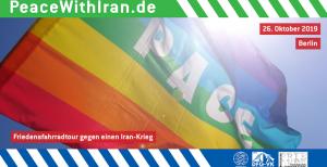 "Friedensfahrradtour ""Peace with Iran"" am 26. Oktober 2019 in Berlin"