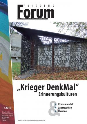 Cover FriedensForum 1/2018