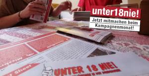 """Der Juni ist der Aktions der Kampagne """"unter18nie!"""""""