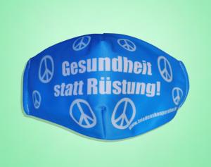"""Mund-/Nasenschutz """"Gesundheit statt Rüstung!"""""""