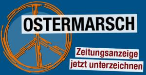 Mit einer Zeitungsanzeige mobilisieren wir zum Ostermarsch 2019. Bist du dabei?