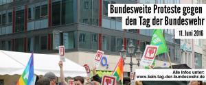 Protest gegen den Tag der Bundeswehr 2016