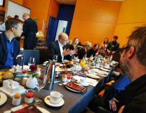 Parlamentarisches Frühstück im Oktober 2019 im Bundestag.