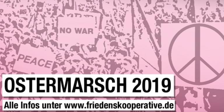 Banner Ostermarsch 2019 mit URL