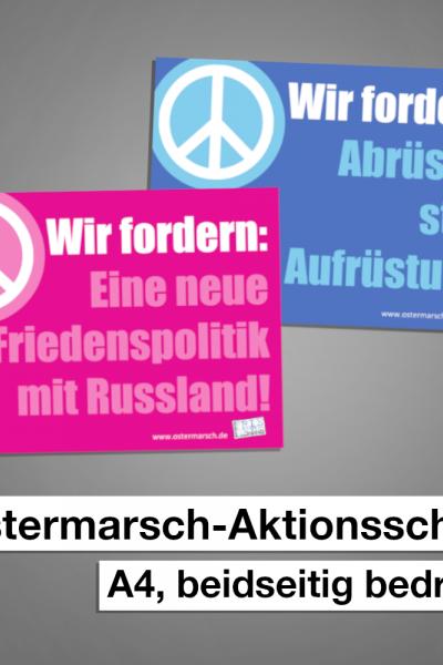 Ostermarsch Aktionsschild 1 Friedenspolitik/Abrüstung