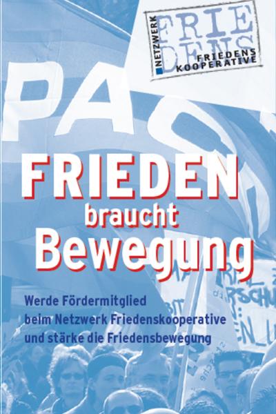 Flyer des Netzwerk Friedenskooperative