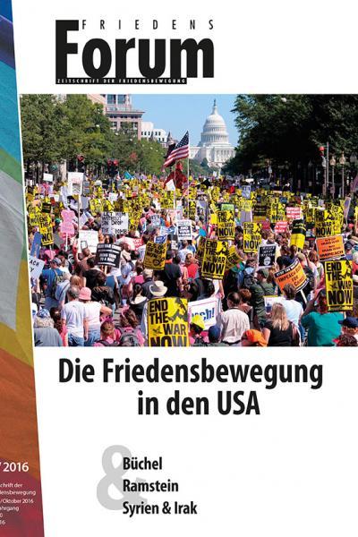 Cover FF 5.2016 Die Friedensbewegung in den USA