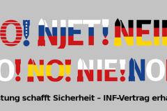Abrüstung schafft Sicherheit – INF-Vertrag erhalten!