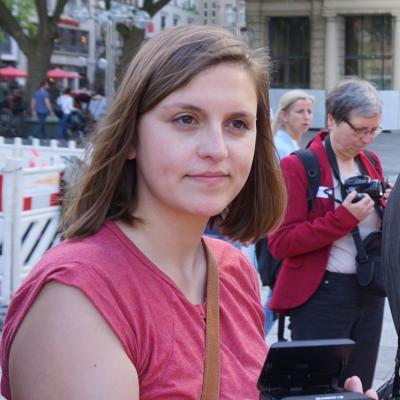 3 Monate lang unterstützte Kathi Müller die Arbeit des Netzwerk Friedenskooperative