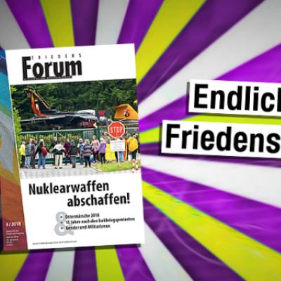 Das neue FriedensForum ist da!
